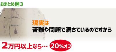 おまとめ例3)現実は苦難や問題で満ちているのですから…2万円以上20%オフ